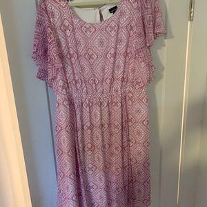 Short sleeve patterned dress from torrid